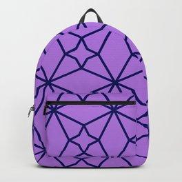 Lilac Geometric Pattern Backpack