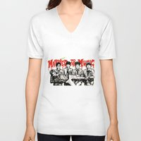 shinee V-neck T-shirts featuring Married to the Music - SHINee by fabisart
