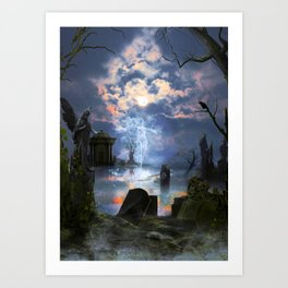 Ghost Blue Art Print