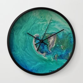 Blue Ocean Map Print Wall Clock
