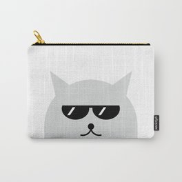 Cat With Glasses #society6 #decor #buyart #artprint Carry-All Pouch