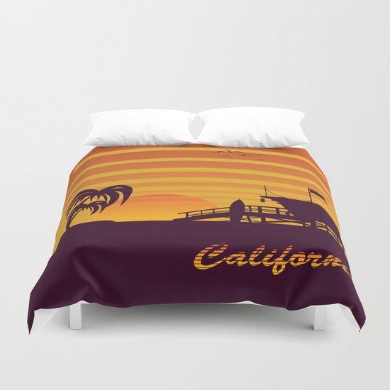 California surfing Duvet Cover