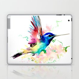 Hummingbird , Blue Turquoise Pink Laptop & iPad Skin