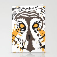 psych Stationery Cards featuring Psych Owl by T Dupuis