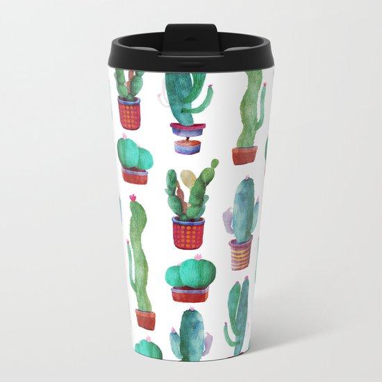 cactus green Metal Travel Mug