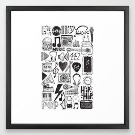 Music Doodles Framed Art Print