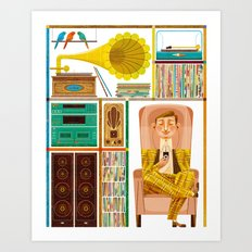 50 Records Art Print