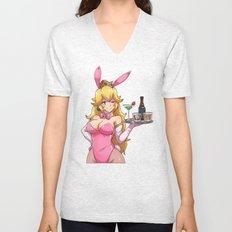 Peachy Bunny Unisex V-Neck