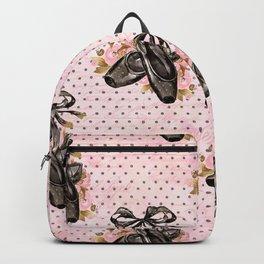 Black ballet shoes Backpack