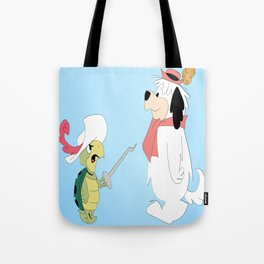Cartoon Animals Fight Tote Bag