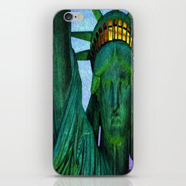 Statue of Liberty 4th of July tribute iPhone Skin