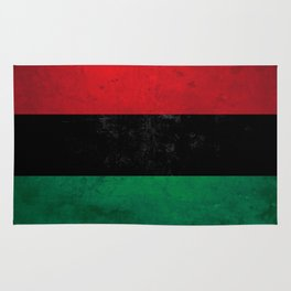 Distressed Afro-American / Pan-African / UNIA flag Rug