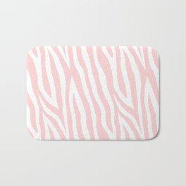 Pale pink zebra fur pattern 04 Bath Mat