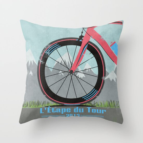 L'Etape du Tour Bike Throw Pillow