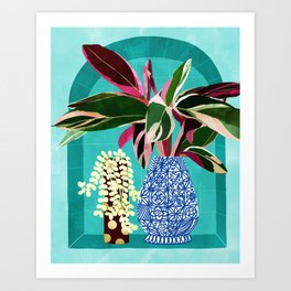 You Can't Buy Happiness But You Can Buy Plants & That's Pretty Much The Same Thing #painting Art Print