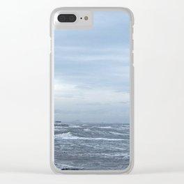 Coastal Storm Surge Clear iPhone Case