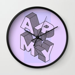 BTS army Wall Clock