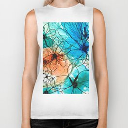 Modern Floral Art - Wild Flowers 2 - Sharon Cummings Biker Tank