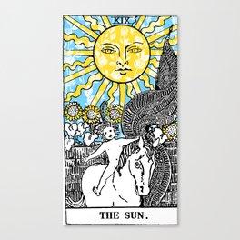 Floral Tarot Print - The Sun Canvas Print