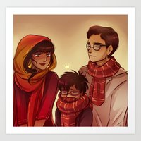 potter Art Prints featuring James Potter by AndytheLemon