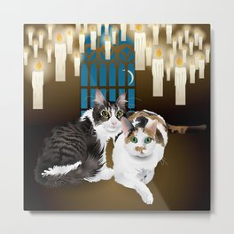 tonks and lupin cats Metal Print