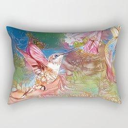 Fairy Hummingbird Rectangular Pillow