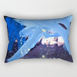 Blue Explosion Rectangular Pillow