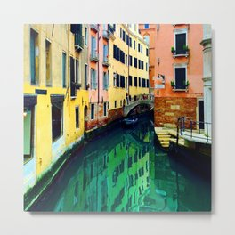 Melting Venice Metal Print