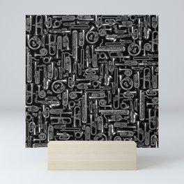 Horns B&W Mini Art Print