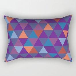 Purple Shade Pyramid Geometric Patterns Rectangular Pillow