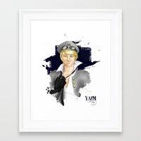 yaoi Framed Art Prints featuring Yaoi by Noemí duVallon