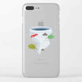 Awesome Tornado Storm Chasers & Severe Weather Clear iPhone Case