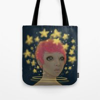 astronaut Tote Bags featuring Astronaut by Edge