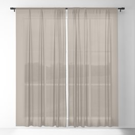COCOA WHIP Earth tones solid color Sheer Curtain