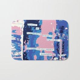 Cafe - Digitally manipulated painting Bath Mat