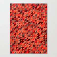 Quilted Reds / Retro Triangles Canvas Print