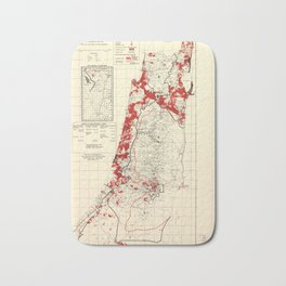 Map of Palestine Index to Villages & Settlements 1940's Bath Mat