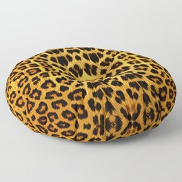 Leopard Print - Rust Floor Pillow