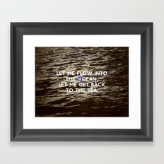Words & Pictures #1 - The Ocean Framed Art Print