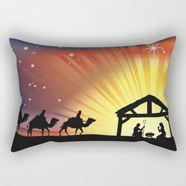 Holiday Christmas The Three Wise Men Night Camel J Rectangular Pillow