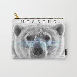 Polar Bear MISSING Carry-All Pouch