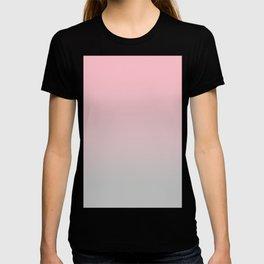 Elegant gradient blush pink - grey T-shirt