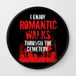 Romantic Walks Cemetery Funeral Director Mortician Gift Wall Clock
