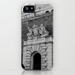 Walking trough the entrance of The Vatican City, Italy | On vacation in Rome | Travel and food photography iPhone Case