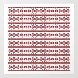 Christmas Stitch Art Print