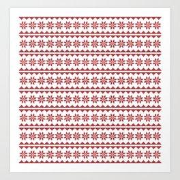 Christmas Stitch Art Print