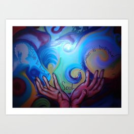 power of soul Art Print