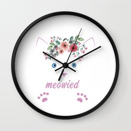 I'm Getting Meowied Cute Cat Lover Wall Clock