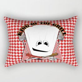 King of the Grill Rectangular Pillow