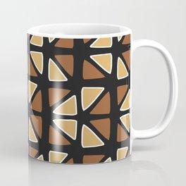 African mud cloth random triangles Coffee Mug